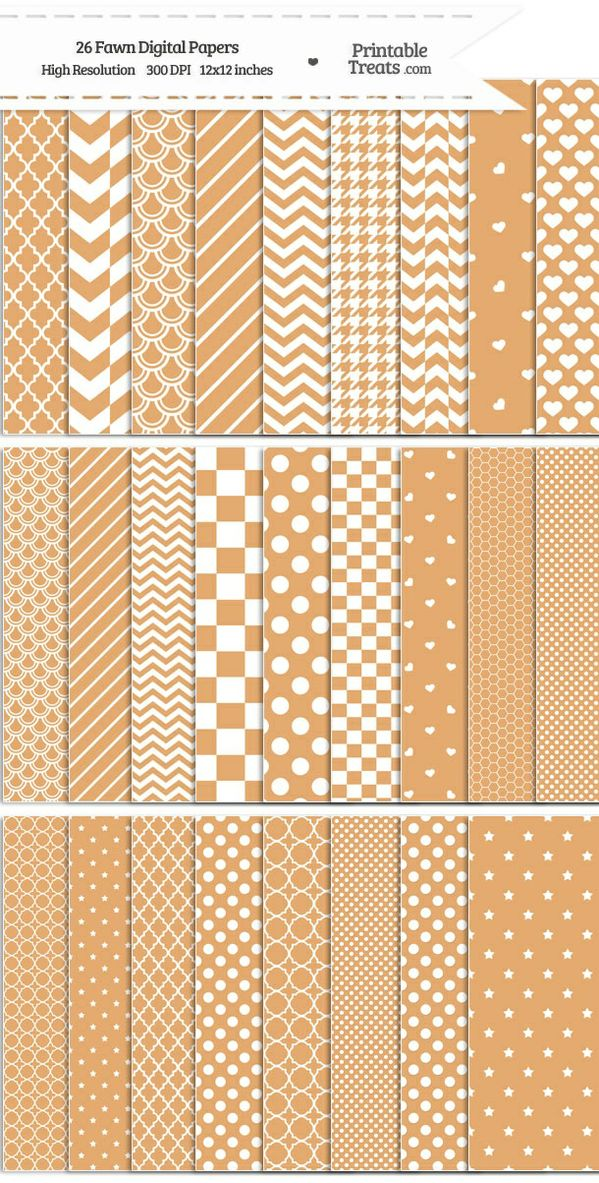 26 Fawn Digital Paper Set Password