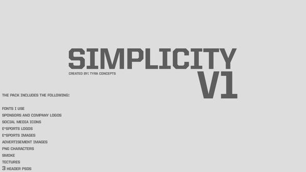 Simplicity V1  Design Pack