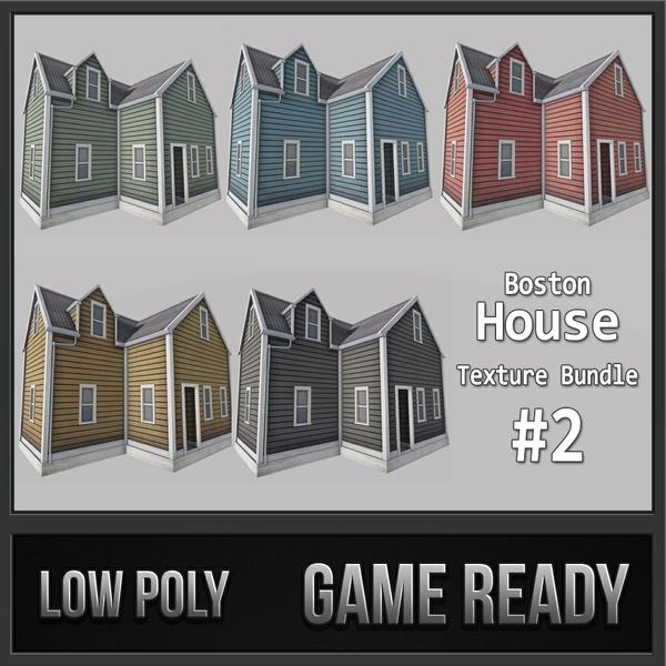 Boston House Bundle 02 | 3D Low Poly Models