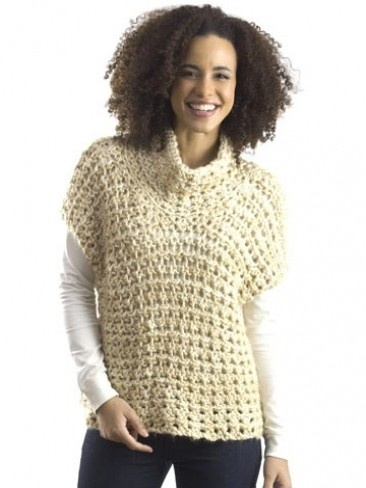 Cowl V-Stitch Vest