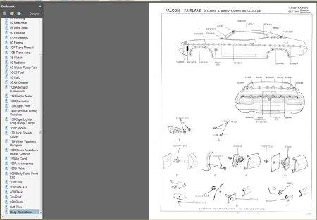 FORD FALCON 1972-1974 XA XB GT GS PARTS BOOK