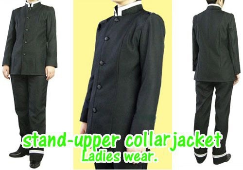 Stand-upper collar jacket  (Paper pattern)