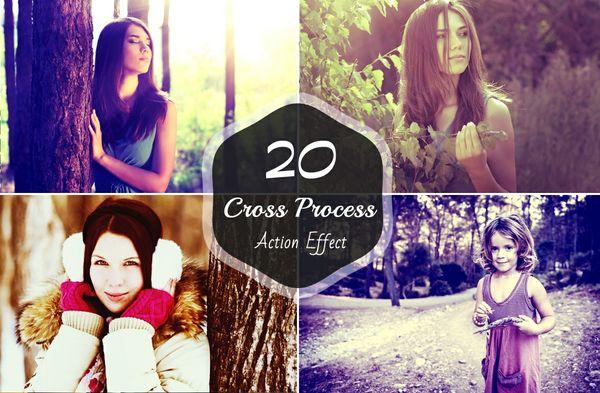 20 Cross Process Photoshop Actions