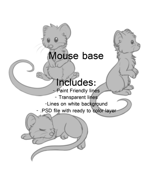 Mouse Lineart