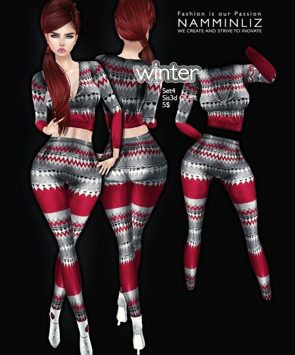 Winter set 4 imvu Sis3d outfit