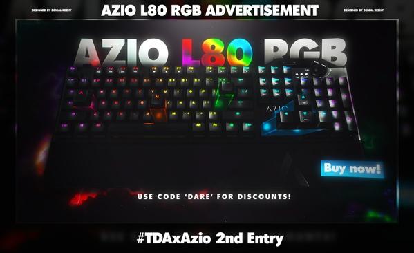 Azio L80 RGB Advertisement PSD