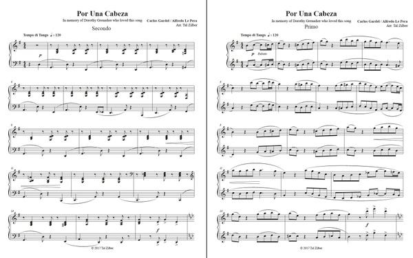 Por Una Cabeza - piano 4 hands
