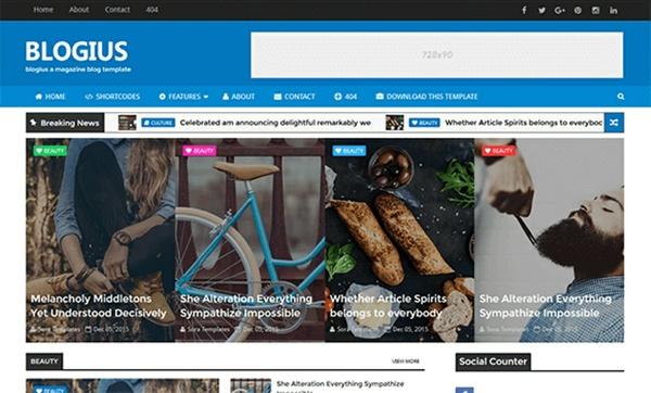Blogius Blogger Template Premium Version
