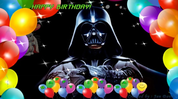 Star Wars Darth Vader sings Happy Birthday 2U