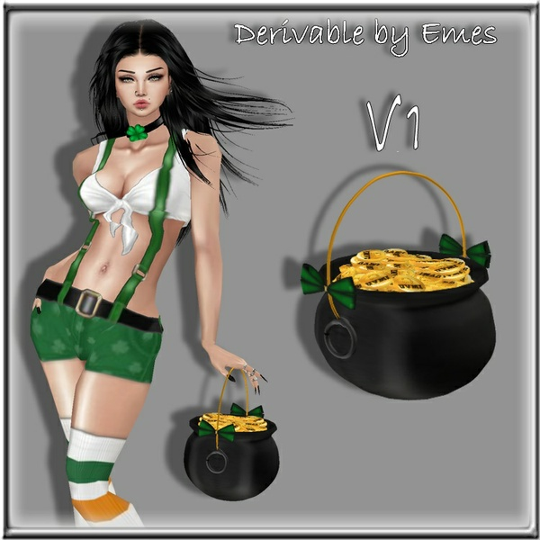 POT OF GOLD UNISEX 3 VERSIONS(3 MESHES)
