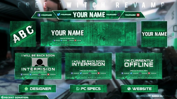 FREE Twitch Streaming overlay template pack (2)