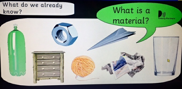 What is it made of? Materials weekly planning slides