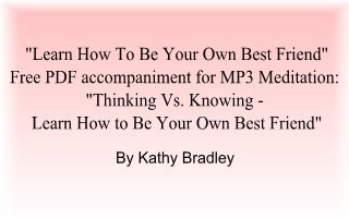 "Free PDF Worksheet: ""Learn How To Be Your Own Best Friend"""