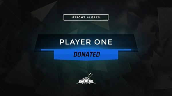 Stream Alert Set - Bright (x4) - Blue