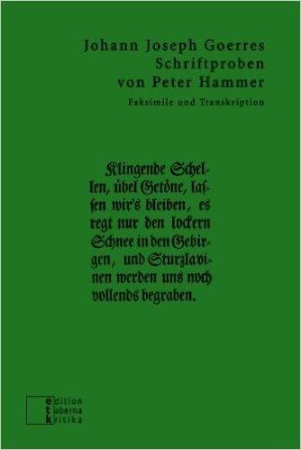 Schriftproben von Peter Hammer