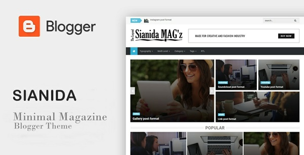 Sianida Magz - Classic Magazine Responsive Blogger Theme