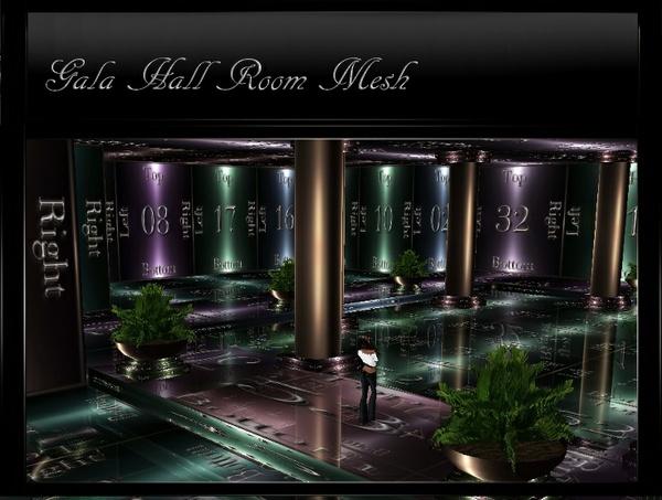 IMVU Mesh Gala Hall Room Mesh