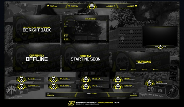 COD Infinite Warfare Twitch Package