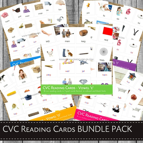 Montessori CVC Reading Cards BUNDLE PACK