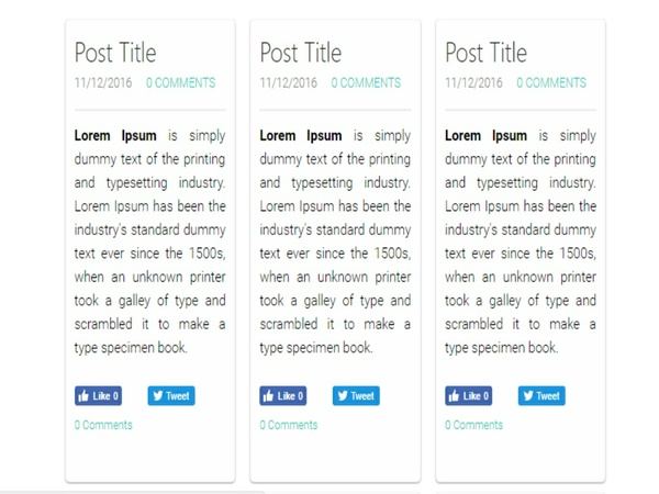 jQuery Plugin to Create Multi Column Blog Layout in Weebly Website