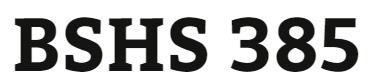 BSHS 385 Week 1 Interview Paper