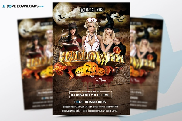 Halloween FREE Flyer 2010 Design