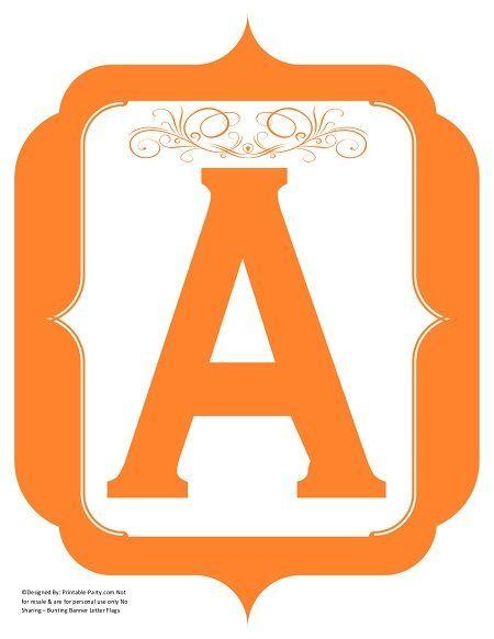 fancy-orange-printable-banners-letters-numbers