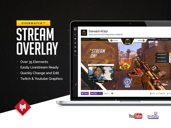 Livestream Overlay | Overwatch V1