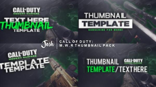 Modern Warfare Remastered - Thumbnail Template Pack