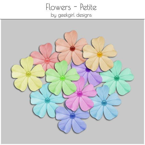 Petite Flowers by geekgirl designs