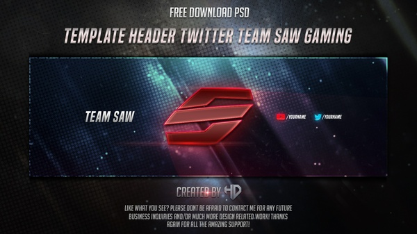 Template Header Twitter Team Saw Gaming Free Download