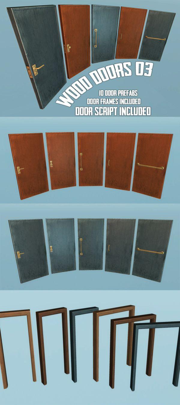 Wood Doors Kit 3 - Unity3D Asset