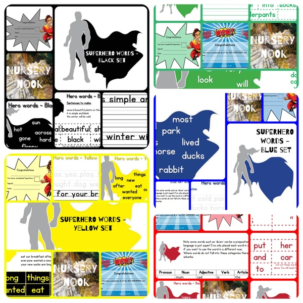 Complete Superhero sight word program