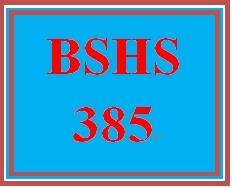 BSHS 385 Week 1 Interview Scenario