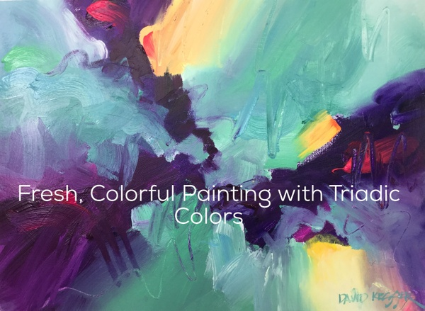 Fresh, Colorful Painting with Triadic Colors