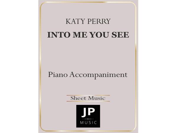 Into Me You See - Piano Accompaniment