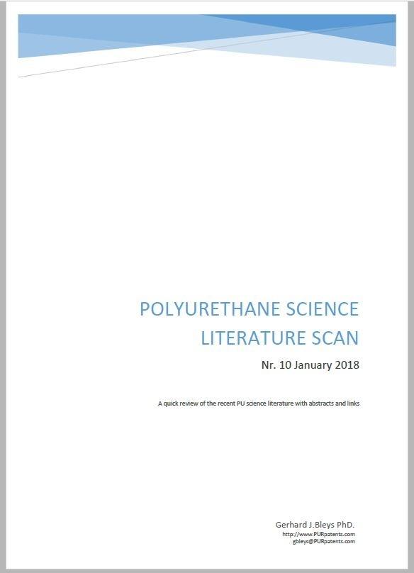 Polyurethane Science Scan Nr.10 - January 2018