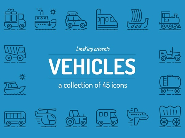 Vehicles Line Icons