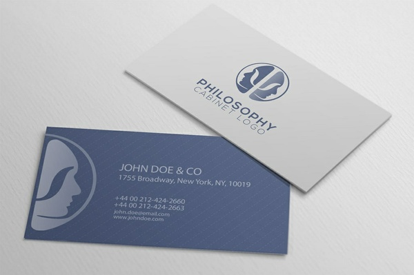 Philosophy cabinet logo and business card