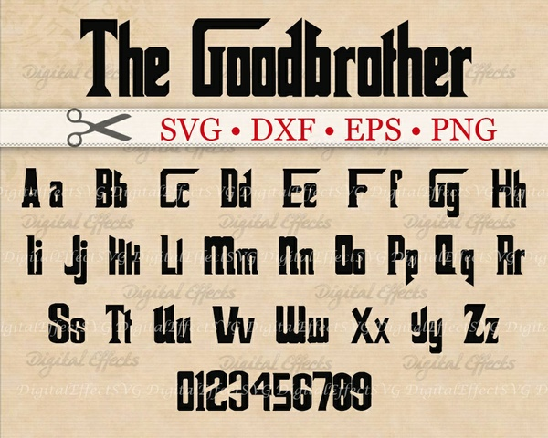 GOODBROTHER FONT SVG