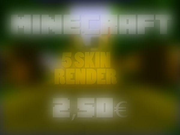 Minecraft: 5 Skinrender
