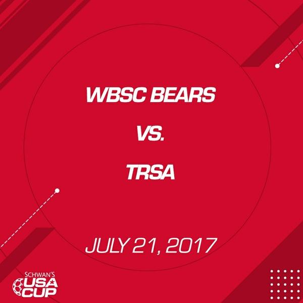 Boys U14 Silver - July 21,2017 - WBSC Bears vs TRSA