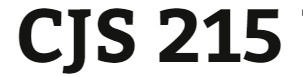 CJS 215 Entire Course