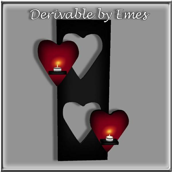 HEART CANDLE SHELF MESH