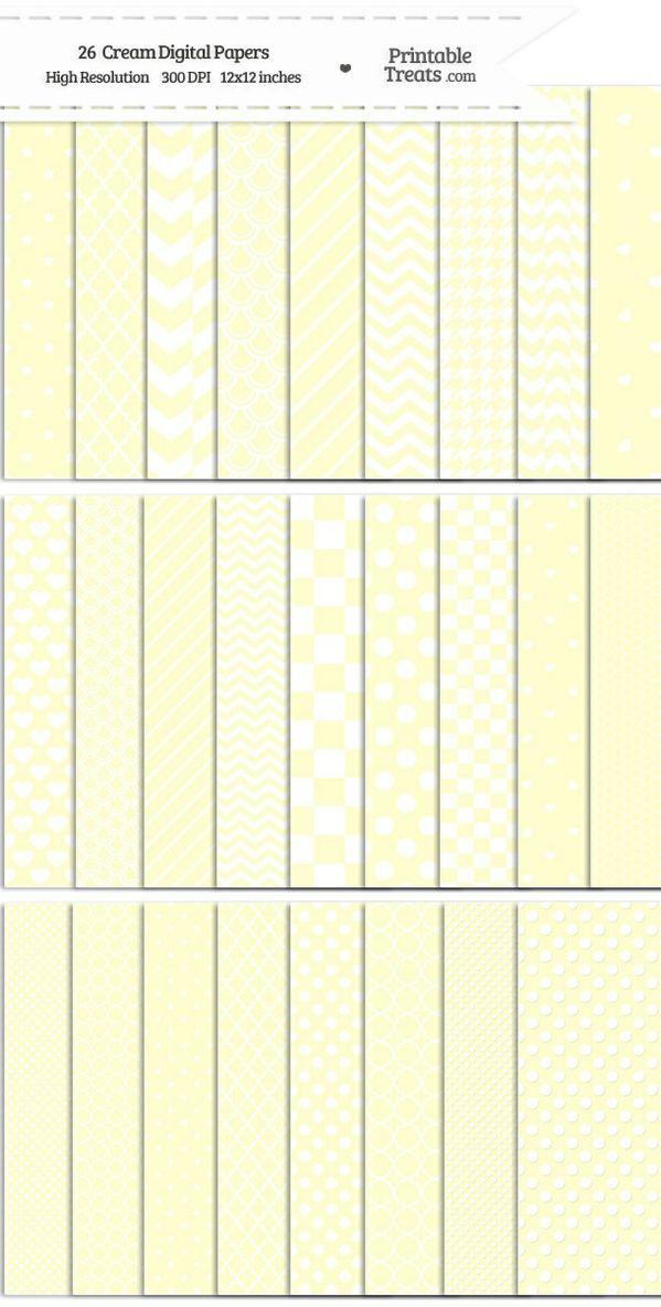 26 Cream Digital Paper Set Password