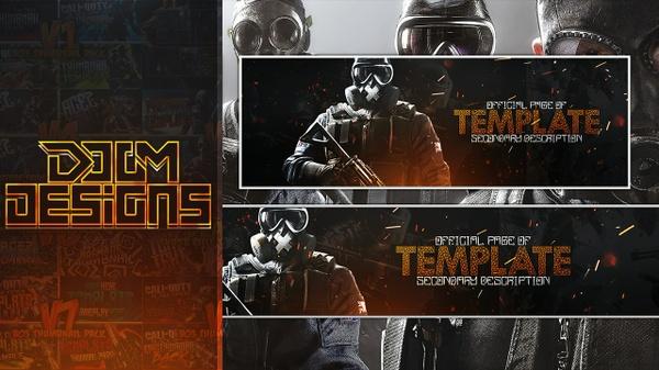 Rainbow Six Siege Revamp Template - Photoshop