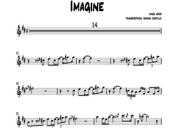 "Mindi Abair - ""Imagine"" - Sax alto."