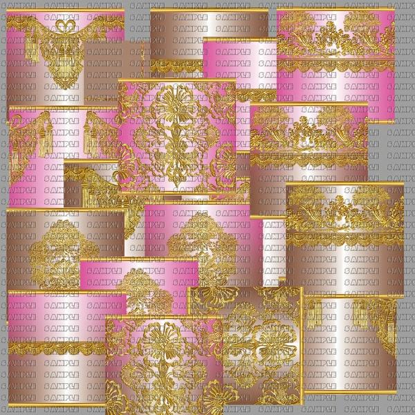 WEDDING TEXTURA ORO - PINK