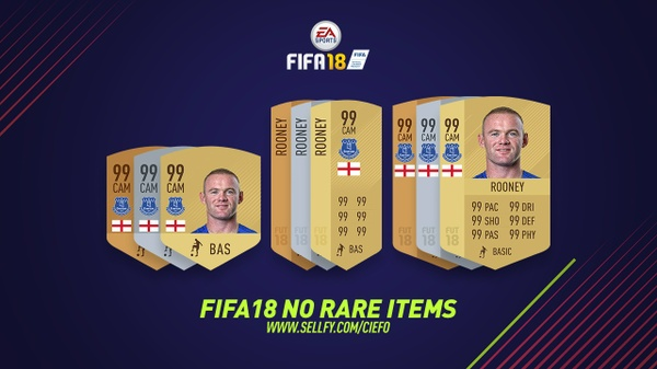 FIFA 18 NO RARE ITEMS