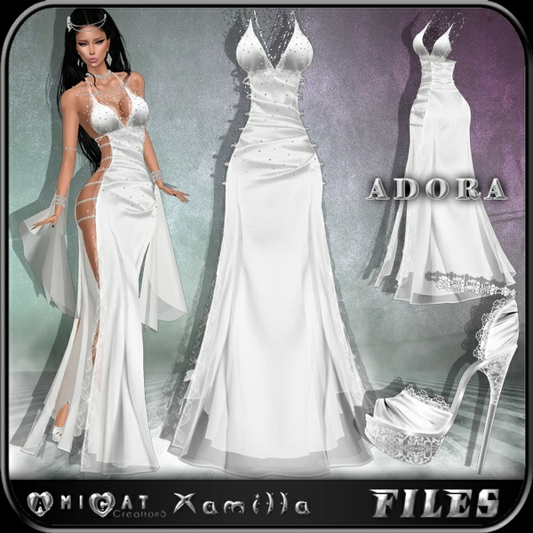 AMICAT ADORA gown + shoes
